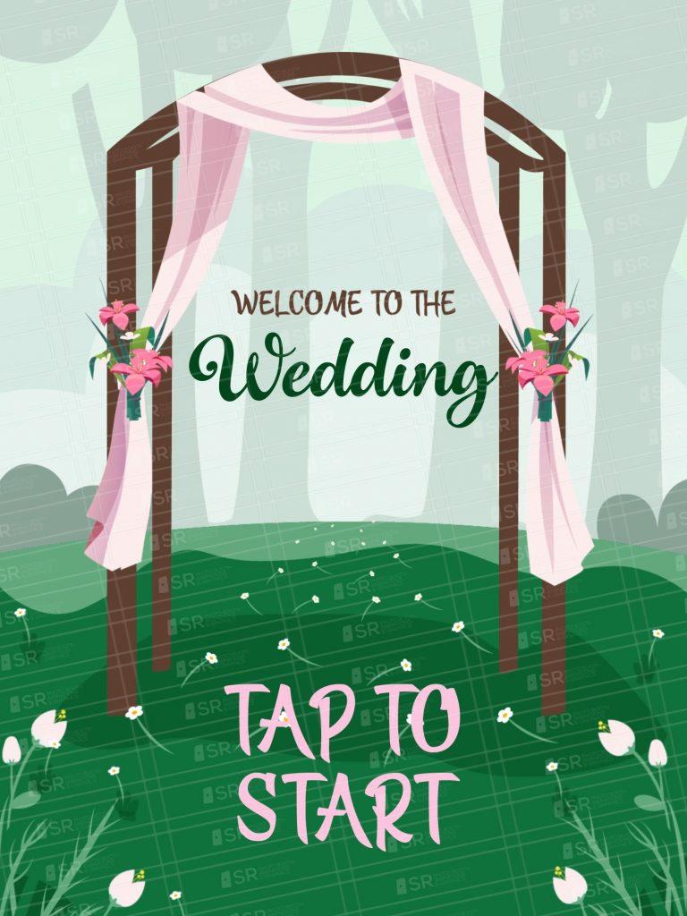 Pretty Spring Wedding Screen- iPad