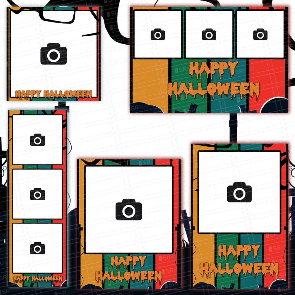 Graveyard themed Halloween Templates