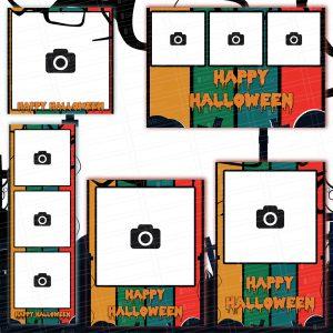 Graveyard themed Halloween Templates by Shopatsr