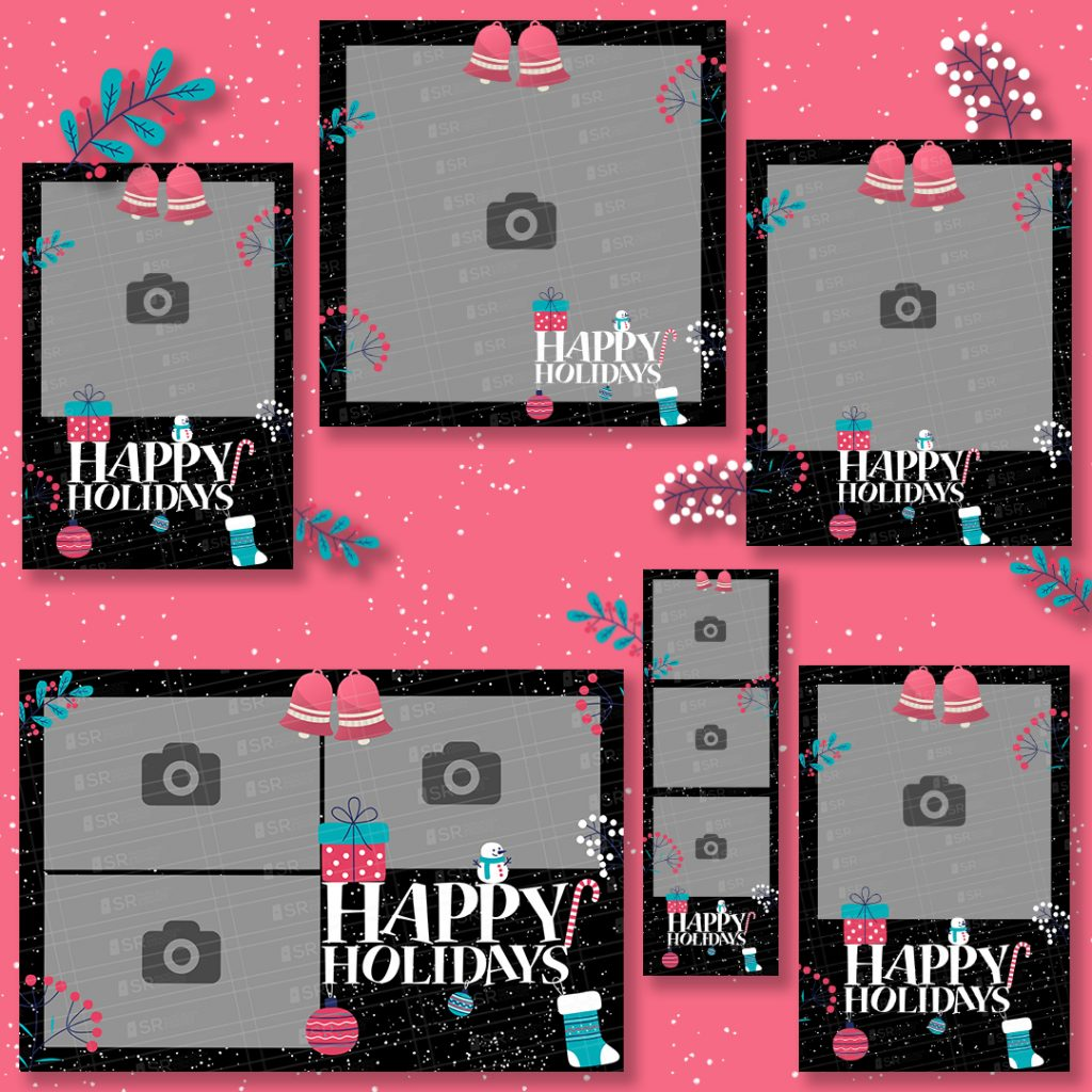 Happy Holidays-winter theme Templates
