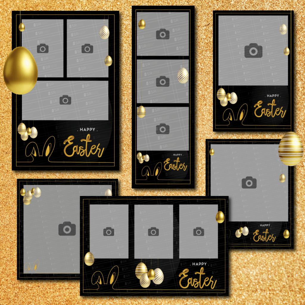 Easter Golden Theme Templates